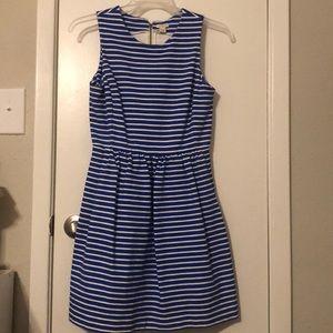 J Crew stripped dress with pockets